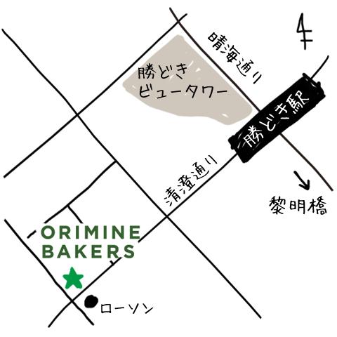 勝どき店 map