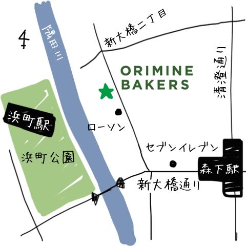 新大橋店 map